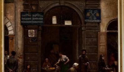 Brama na Starym Mieście w Warszawie, 1883, olej, płótno, 64 x 49 cm, Muzeum Sztuki w Łodzi