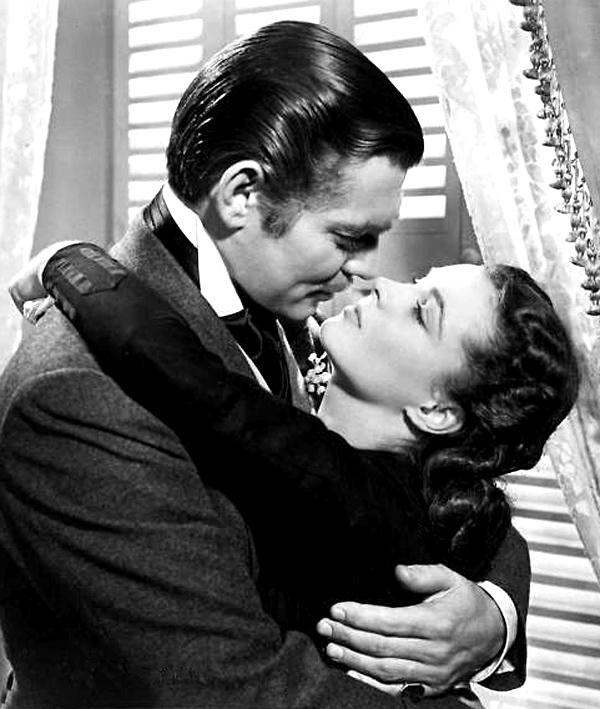 """Clark Gable i Vivien Leigh, odtwórcy głównych ról w filmowej adaptacji """"Przeminęło z wiatrem"""""""