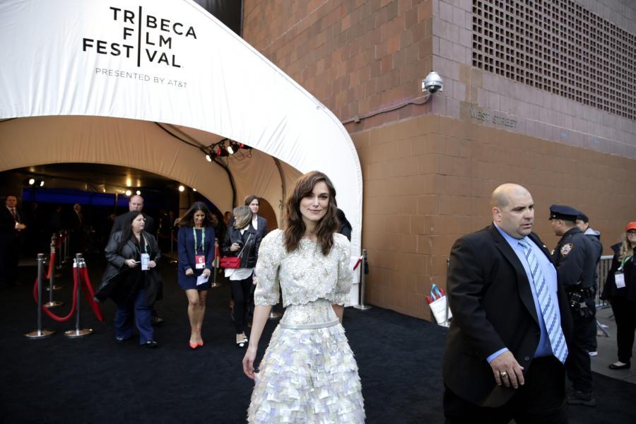 Keira Knightley na uroczystym pokazie jej nowego filmu w Nowym Jorku