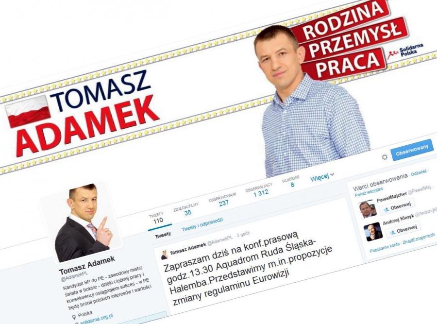 Tomasz Adamek na Twitterze