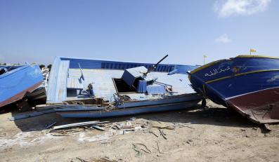 Cmentarzysko łodzi na włoskiej wyspie Lampedusa