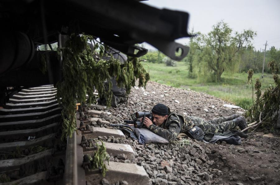 Snajper separatystów niedaleko Słowiańska