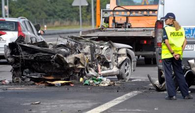 Trzy osoby zginęły, a jedna została ciężko ranna w wypadku na drodze S3 w okolicy Wysokiej Gryfińskiej