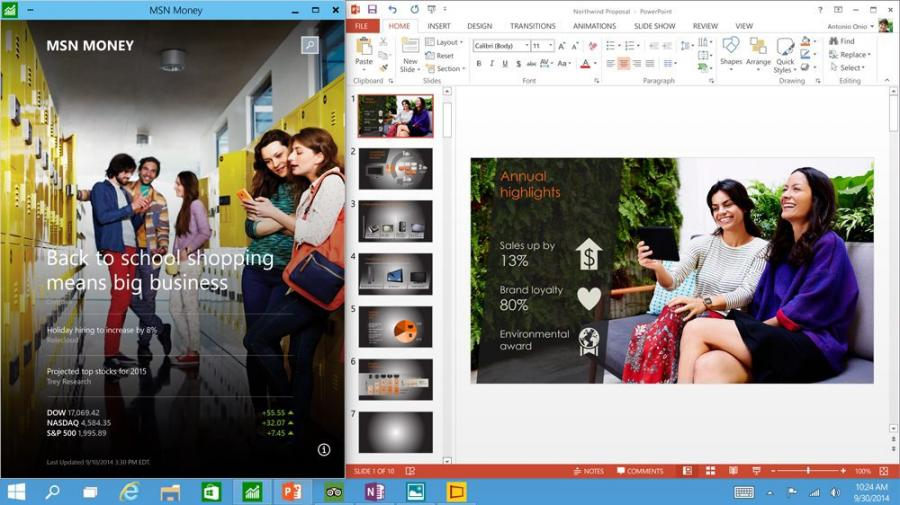Premiera Windows 10
