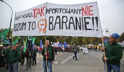 Protestujący górnicy