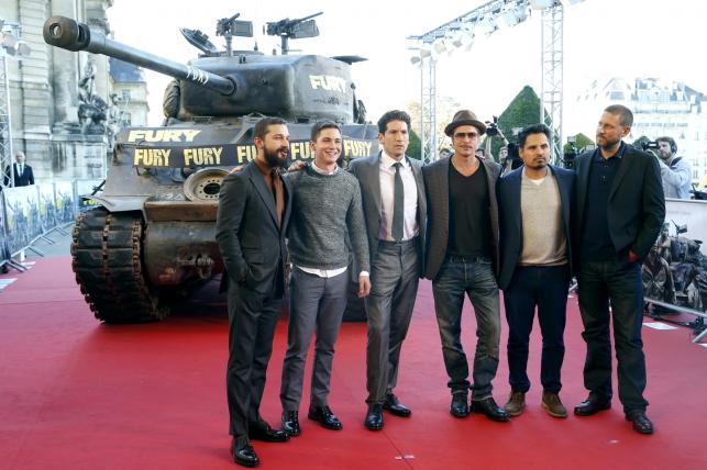 Shia Labeouf, Logan Lerman, Jon Bernthal, Brad Pitt, Michael Pena i reżyser David Ayer