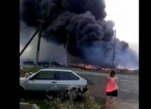 Fragment nagrania wykonanego tuż po katastrofie malezyjskiego boeinga