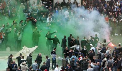 Zadyma przed meczem Ligi Europy w Rzymie. Kibole Feyenoordu bili się z policją