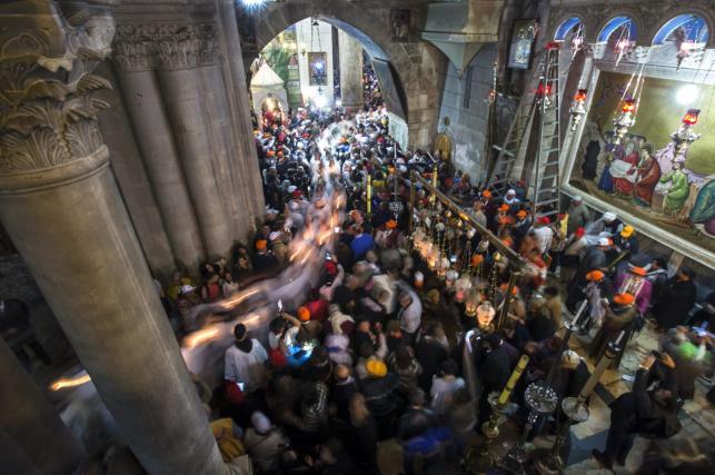 Msza w Bazylice Bożego Grobu w Jerozolimie