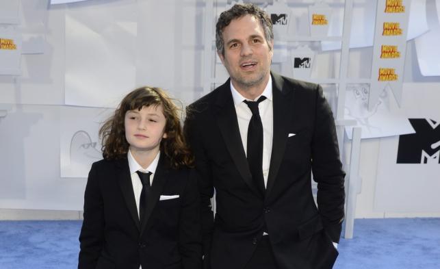 Mark Ruffalo z córkąna gali MTV Movie Awards 2015
