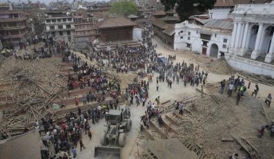 Katmandu po trzęsieniu ziemi