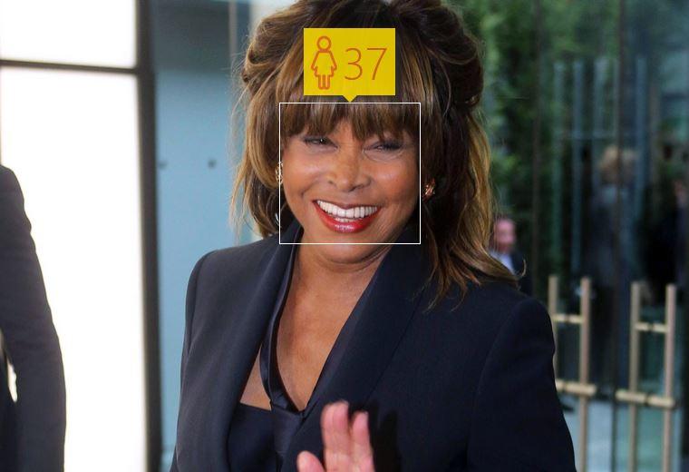 Tina Turner i jej wiek według How-Old.net