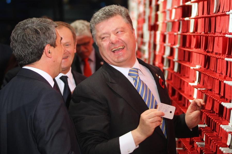 Prezydent Ukrainy PETRO POROSZENKO na Westerplatte