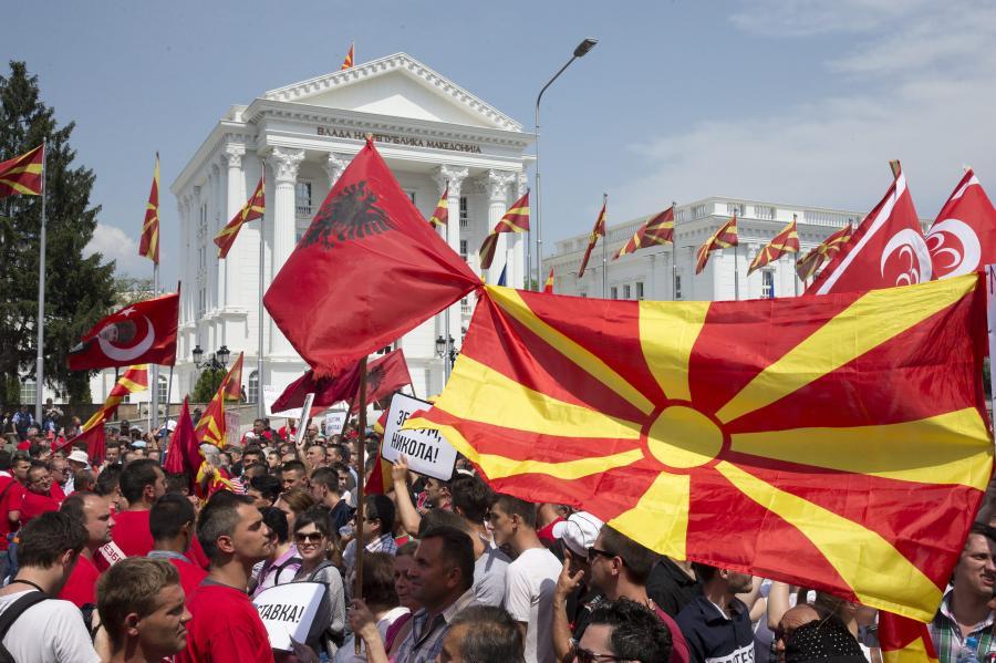 Manifestacje w Macedonii