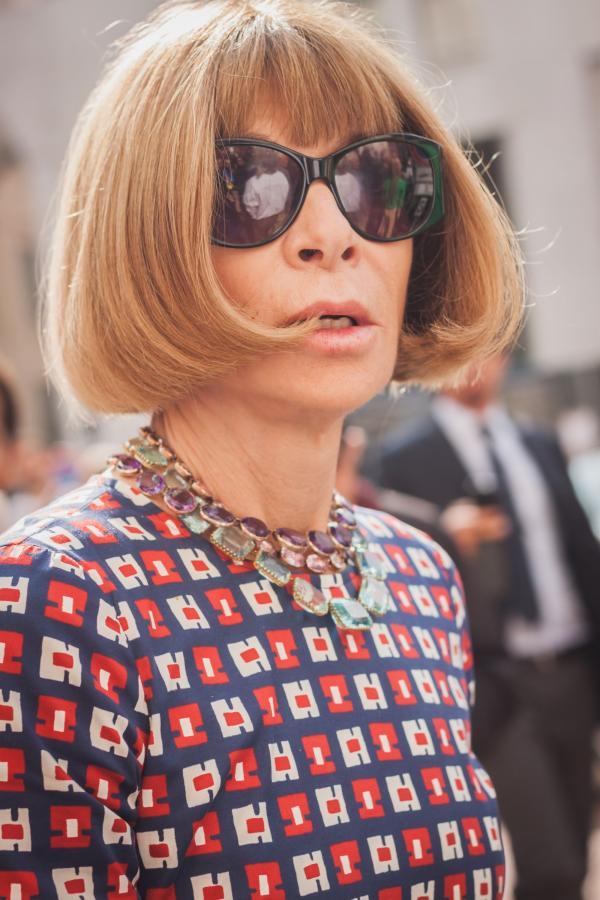 """ANNA WINTOUR, redaktor naczelna amerykańskiej edycji miesięcznika """"Vogue"""""""