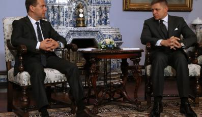 Dmitrij Miedwiediew i Robert Fico