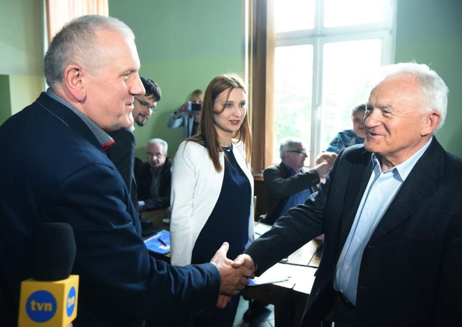 Przewodniczący OPZZ Jan Guz i szef SLD Leszek Miller