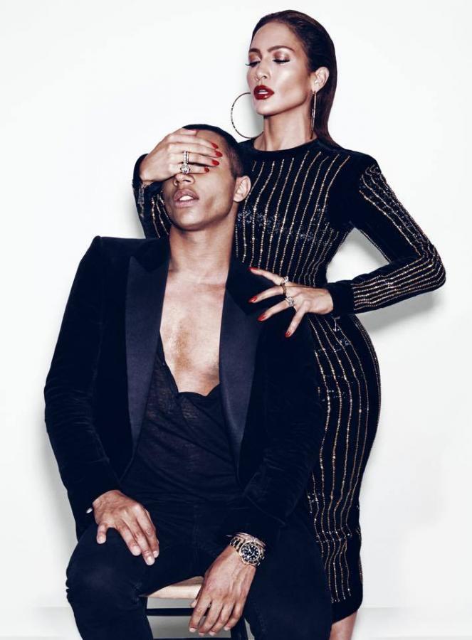 "Jennifer Lopez i Oliver Rousteing w sesji dla magazynu ""Paper"""
