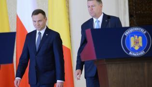 Prezydent Polski Andrzej Duda i prezydent Rumunii Klaus Werner Iohannis