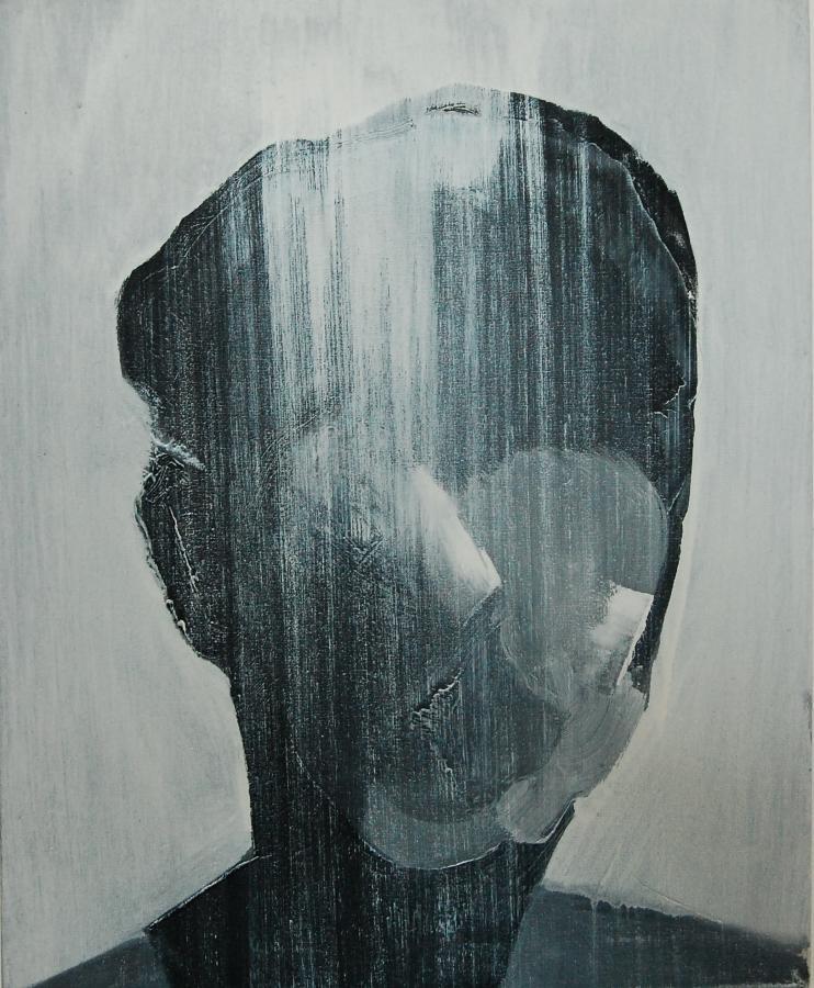 """""""Szkice do portretu 30"""", Cezary Bednarczyk, olej na płótnie, 50x40 cm"""