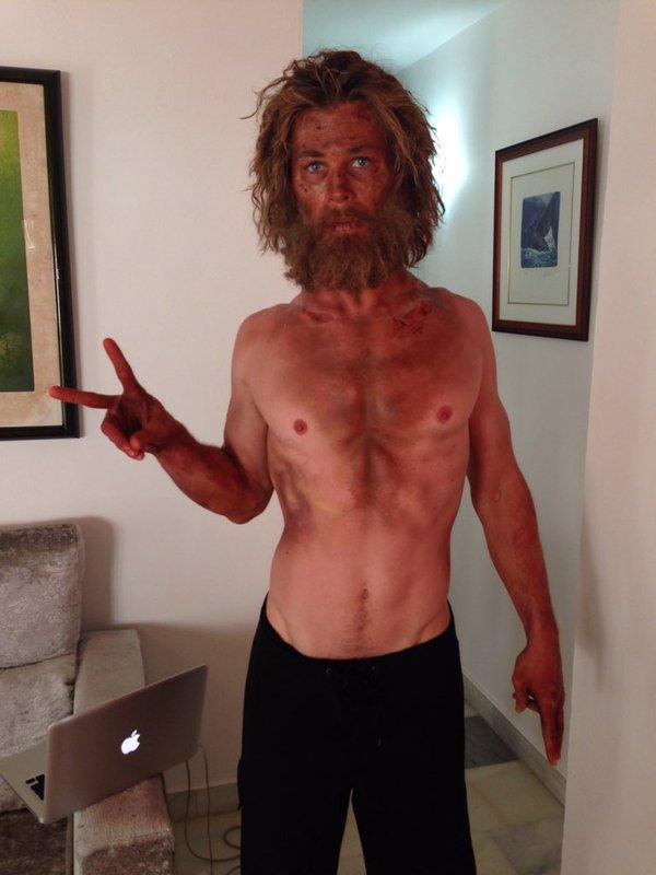 Chris Hemsworth po pracy nad obrazem Rona Howarda