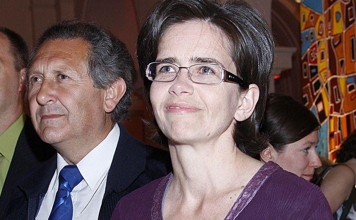 Anna Streżyńska z mężem