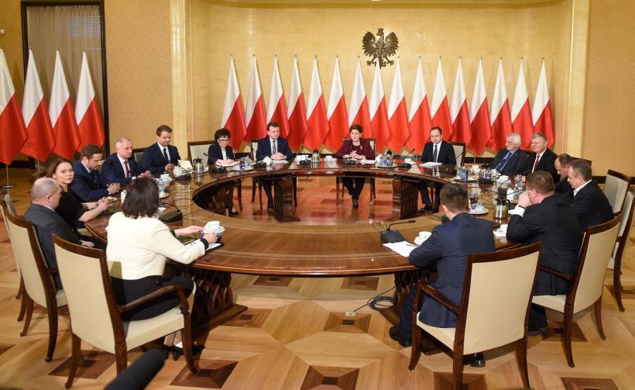 Spotkanie premier Beaty Szydło z przedstawicielami klubów parlamentarnych