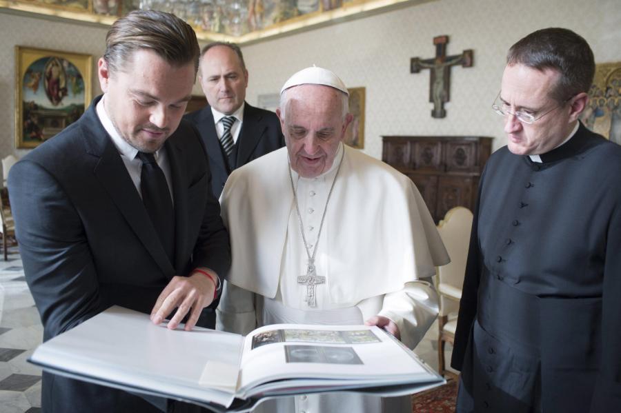 Leonardo DiCaprio spotkał się z papieżem Franciszkiem