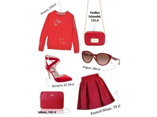 ec6c509d99 Czerwono jemu i jej  stylowe zestawy ubraniowo-prezentowe na ...