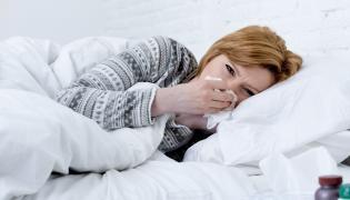 Chora kobieta
