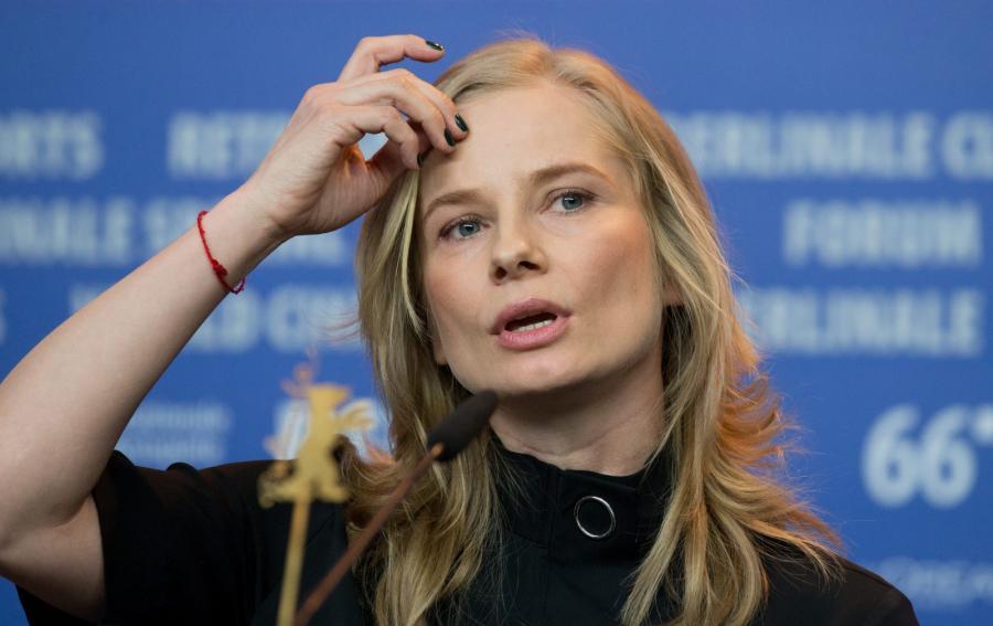 Magdalena Cielecka na festiwalu filmowym w Berlinie