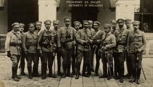 Józef Piłsudski ze sztabem w Kielcach, rok 1914