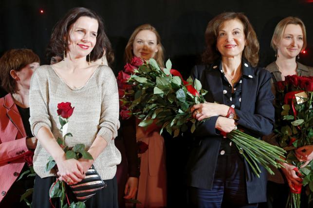 """Agata Kulesza i Anne Fontaine na premierze filmu """"Niewinne"""""""