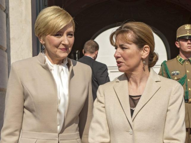 Agata Kornhauser-Duda i Anita Herczegh