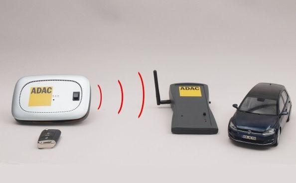 Specjaliści z ADAC za kilkaset euro zbudowali urządzenie do przechwytywania sygnału z kluczyka
