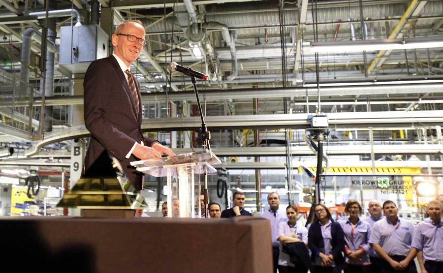 Karl-Thomas Neumann, szef Opla w fabryce w Gliwicach