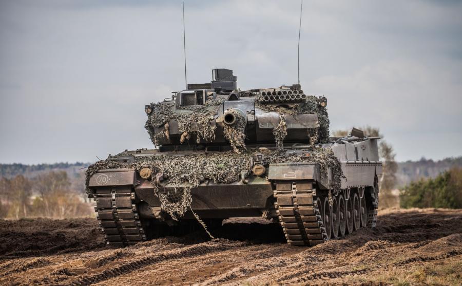 Niemiecki czołg na poligonie