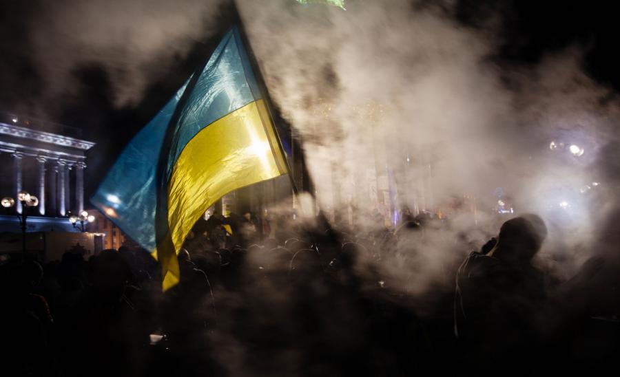 Protest na Majdanie w Kijowie, listopad 2013