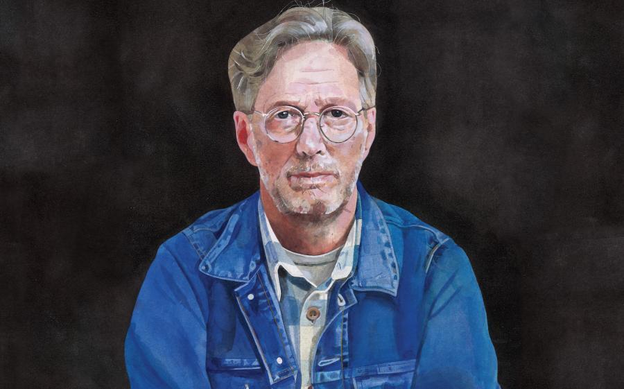 Portret Claptona na okładce albumu \