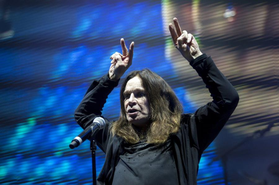 Ozzy Osbourne podczas koncertu w Budapeszcie