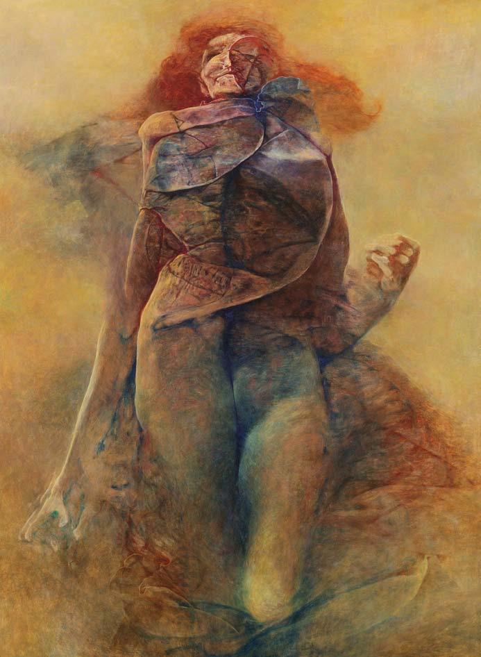 ON, 1989, olej, 132 x 98 cm
