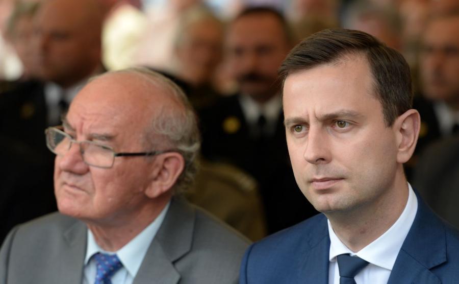 Prezes PSL Władysław Kosiniak-Kamysz (P) oraz wiceprzewodniczący Rady Naczelnej Polskiego Stronnictwa Ludowego Alfred Domagalski (L)