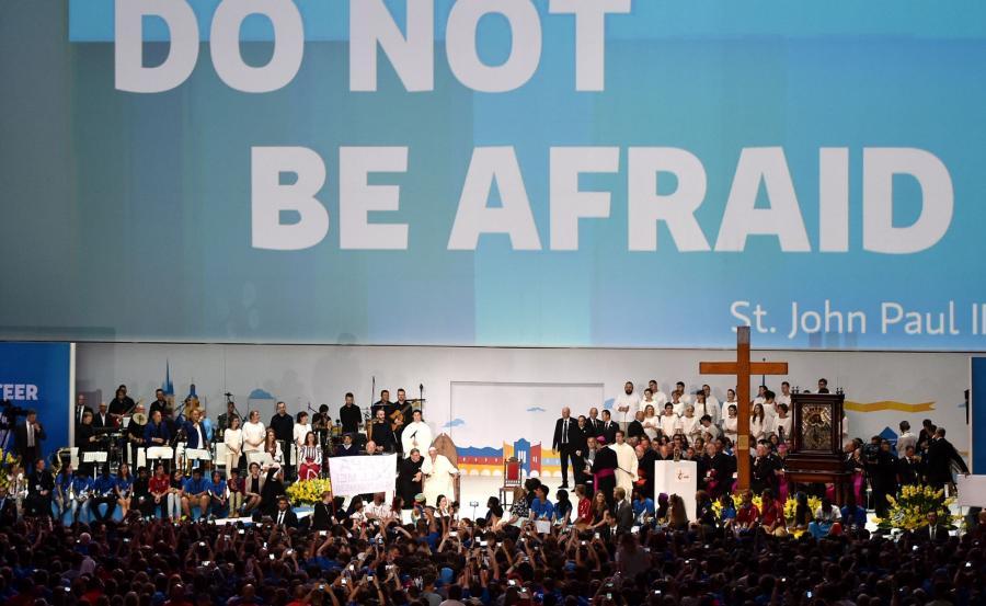 Spotkanie papieża z wolontariuszami