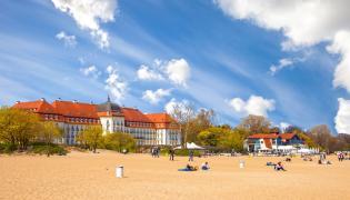 Grand Hotel i plaża w Sopocie