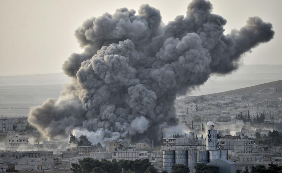 Bombardowanie w Syrii