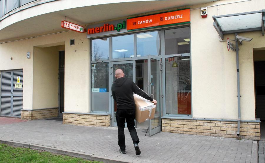 Punkt odbioru towaru sklepu Merlin.pl
