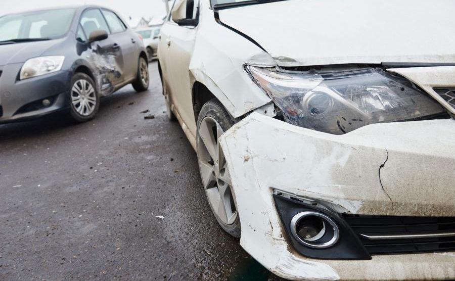 Stłuczka samochodów