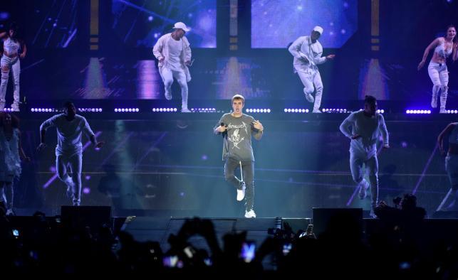 Justin Bieber na koncercie w Krakowie, w Tauron Arenie, 11 listopada 2016 roku