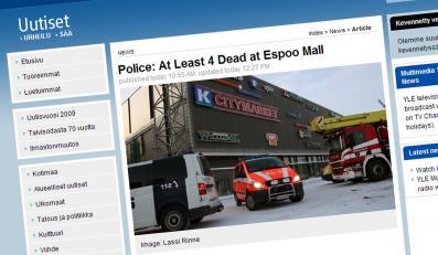 Masakra w fińskim centrum handlowym