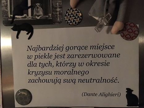 motto na lodówce Grzegorza Turnaua